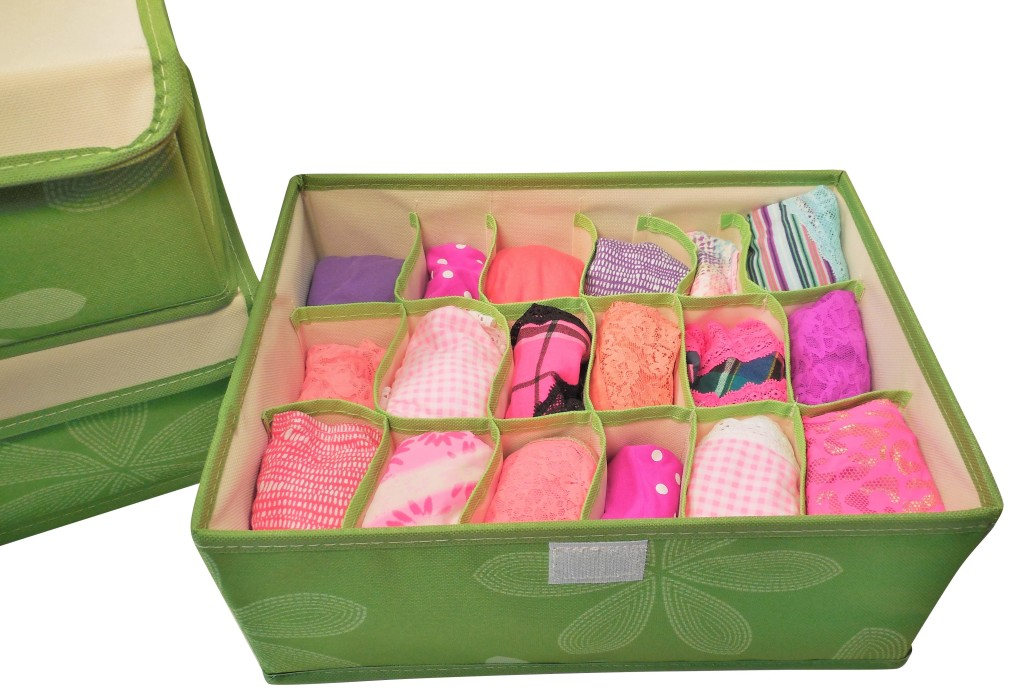 18 cell underwear drawer organizer