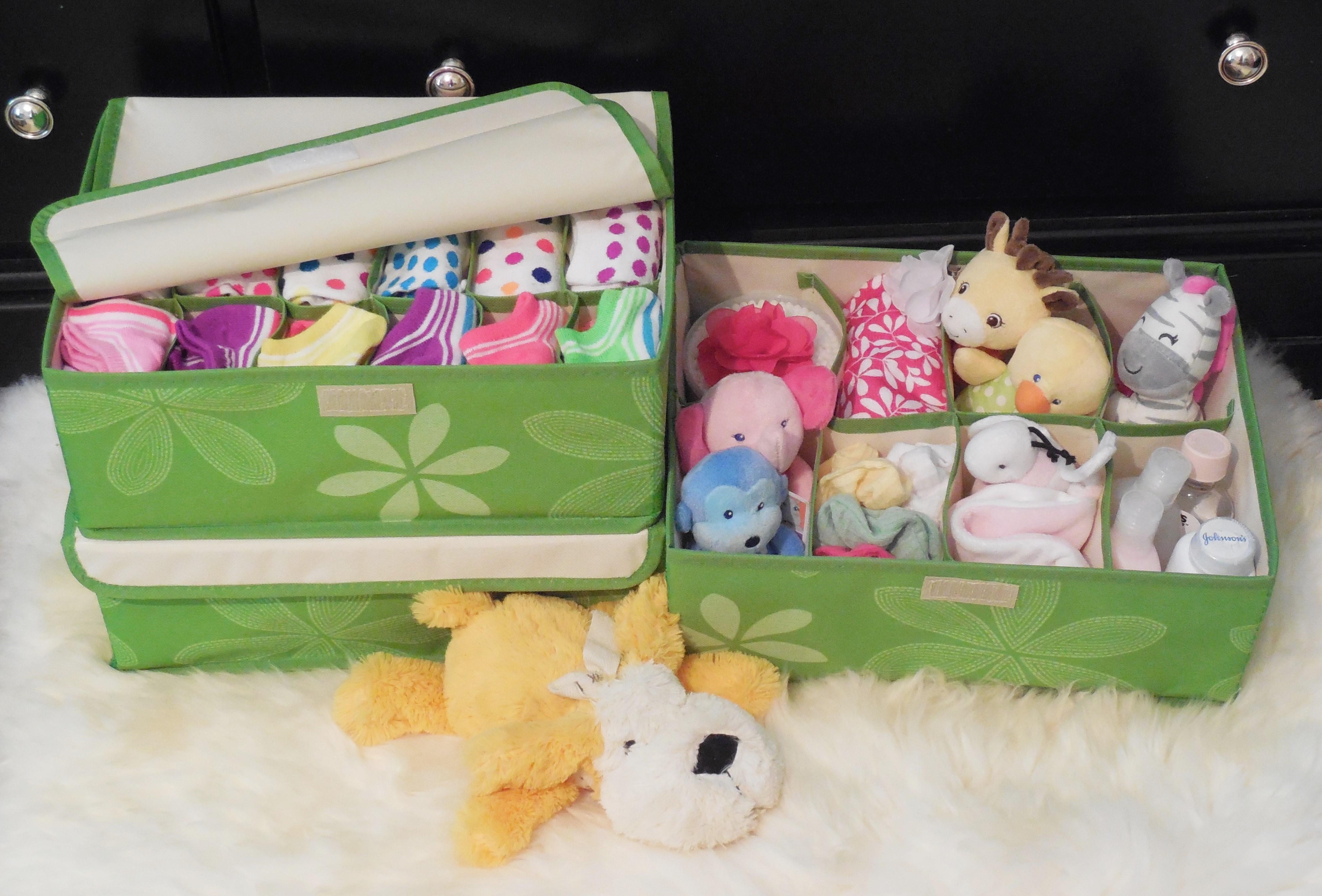 Childrens Animals Storage Box Chest 3 Kids Drawer Bedroom: Bedroom Drawer Organizer (Set Of 3 Storage Boxes