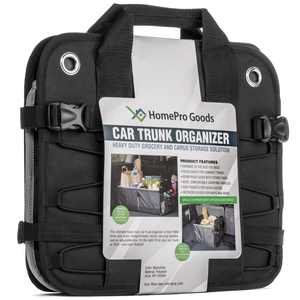 HomePro Goods Car Trunk Organizer in Packaging
