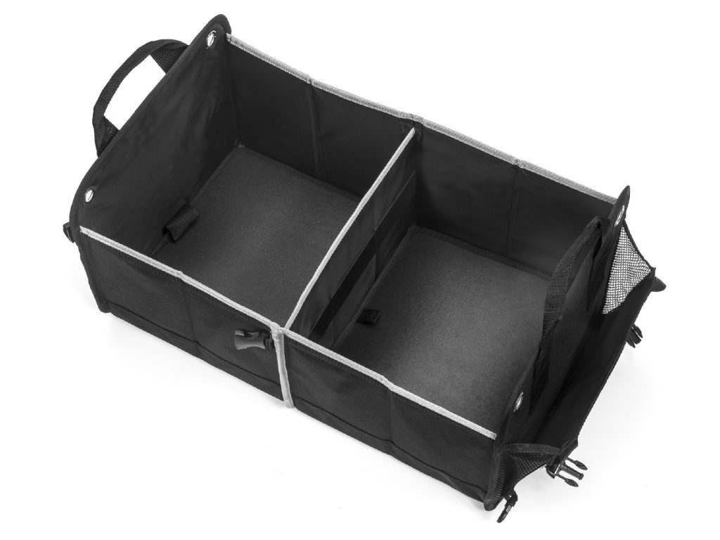 Interior view of trunk organizer- top down